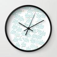ski Wall Clocks featuring Ski Run by finka