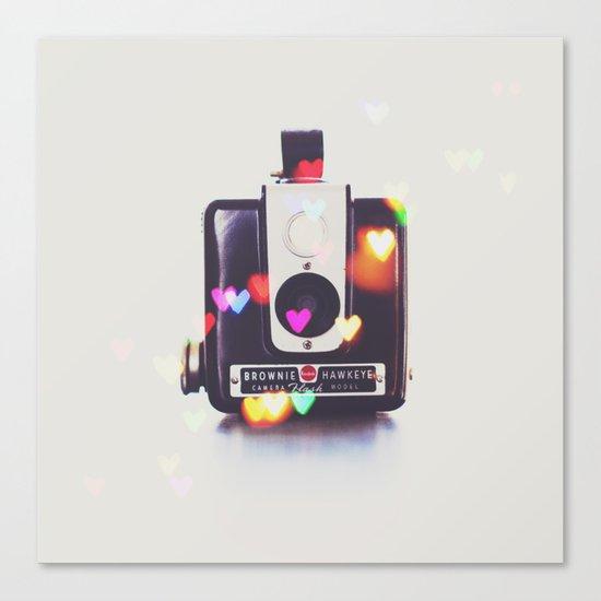 Heart Brownie Hawkeye  Canvas Print