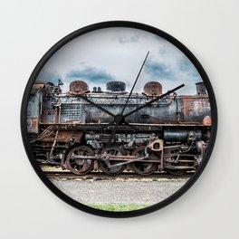 Grand Trunk and Western Railroad Switcher 8380 Rusty Steam Train Wall Clock