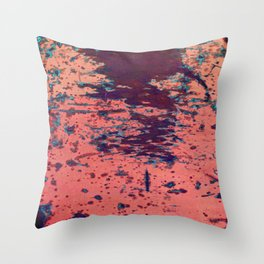 Scratched pink paint Throw Pillow