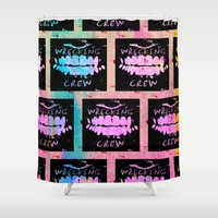 animal crew Shower Curtains featuring Wrecking Crew by Tyler Spangler