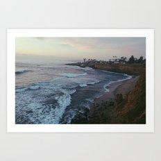 sunset cliffs.  Art Print