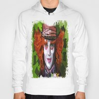 mad hatter Hoodies featuring Mad Hatter by grapeloverarts