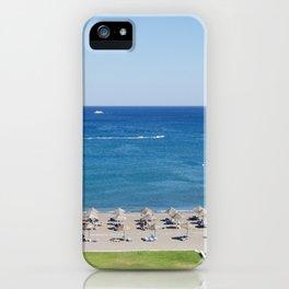 Rhodes Island Faliraki beach. iPhone Case