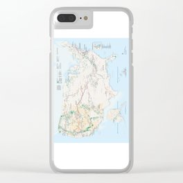 National Parks Trail Map Clear iPhone Case