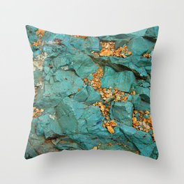 Gold and Copper Throw Pillow