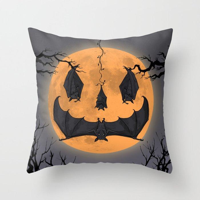Halloween Moon Throw Pillow By Aureliovoltaire Society6