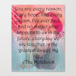 The Notebook Canvas Print