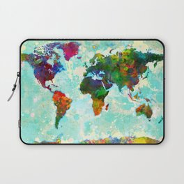 Abstract Map of the World Laptop Sleeve