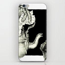 Geometric Black and White Drawing Tea Pot Time iPhone Skin