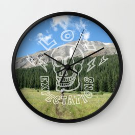Low Expectations - Demotivational Poster Wall Clock