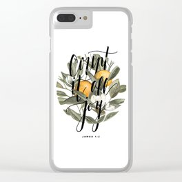 Count It All Joy Clear iPhone Case