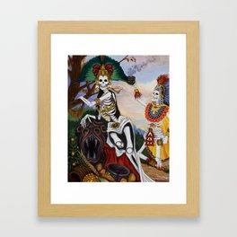 """Aztec Ritual"" Framed Art Print"