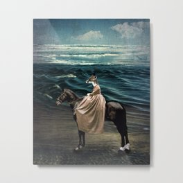 The Fox and the Sea Metal Print