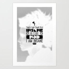 """""""Girl with the Dragon Tattoo"""" Typography Poster Art Print"""