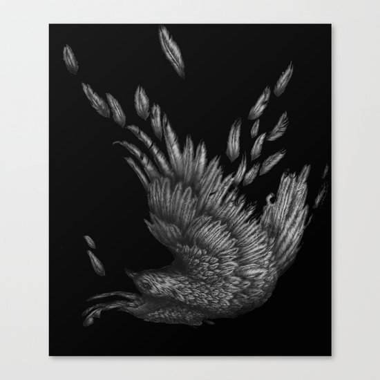 Raven Unravelled in Black Canvas Print