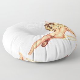 Ice Cream Girl 1 Floor Pillow