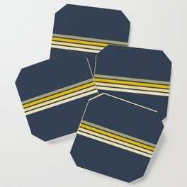 Racing Retro Stripes Coaster