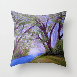 Sparkling River Throw Pillow
