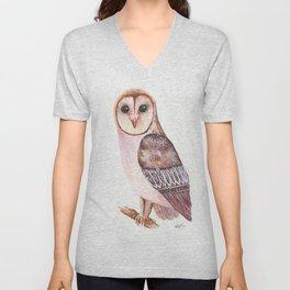 Barn Owl Unisex V-Neck