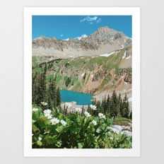 The Blue Lakes of Colorado Art Print