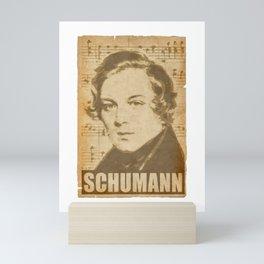Robert Schumann musical notes Mini Art Print