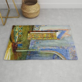 Near-Eastern Palace Interior Portrait by Louis Comfort Tiffany Rug