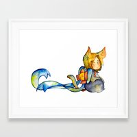 bow Framed Art Prints featuring bow by cynamon