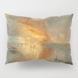 William Turner - The Burning of the Houses of Lords and Commons, 16 October 1834 Pillow Sham