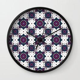 Jeweled garden - repeating mandala pattern  Wall Clock