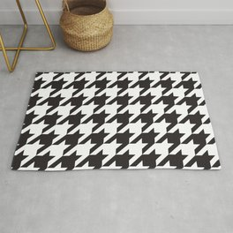 Houndstooth (Black and White) Rug