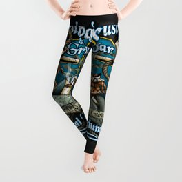 Trusty Shellback Bar & Grill Mermaid Leggings