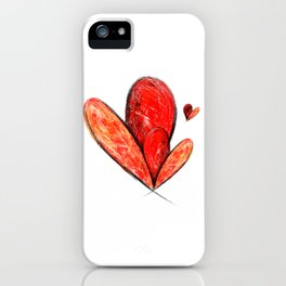 Happy Valentines Day Abstract art Love Hearts Gift iPhone Case