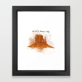 Valley Of Monuments Color Splash #1  Framed Art Print