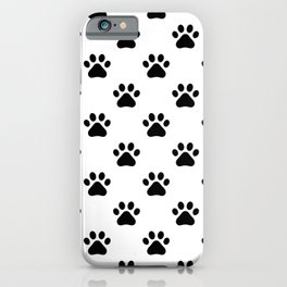 Paw print animal lover pattern iPhone Case