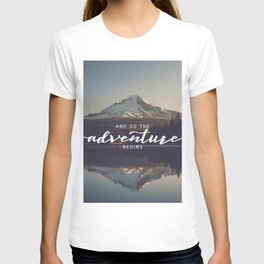 Trillium Adventure Begins - Nature Photography T-shirt