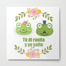 Frogs in love Metal Print
