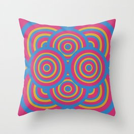 wide eyes&wireframes Throw Pillow