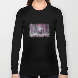 Deer In A Purple Forest Long Sleeve T-shirt