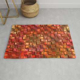 Abstract red 238 Rug