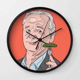 Bill Murray With Pickle Wall Clock