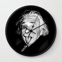einstein Wall Clocks featuring Einstein by Michelena