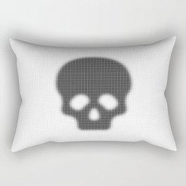 Halftone Skull Rectangular Pillow