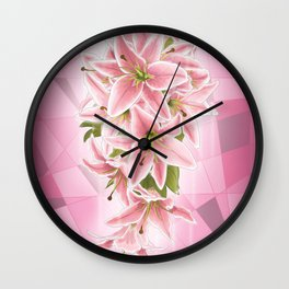 Lilies of Purity and Prosperity Wall Clock