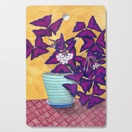 Purple Shamrock Houseplant Painting Cutting Board