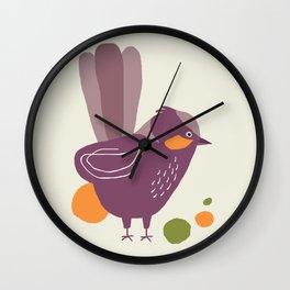 Quirky Superb Fairywren Wall Clock