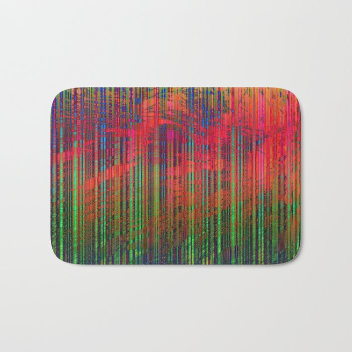 Colorful Abstract Lines Bath Mat