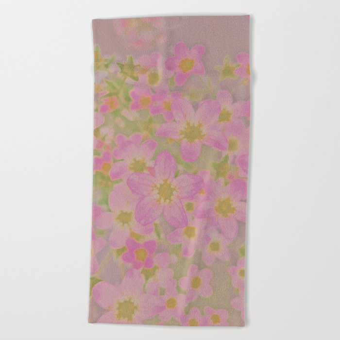 Pink Floral, The Earth Laughs In Flowers Beach Towel