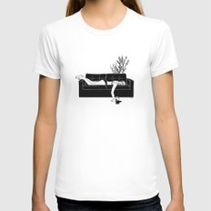 Bad Day White MEDIUM Womens Fitted Tee