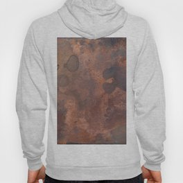 Tarnished, Stained and Scratched Copper Metal Texture Industrial Art Hoody